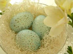 Dyed and Speckled Eggs