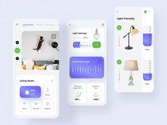 Smart Home App by Nadya Lazurenko for Fireart Studio on Dribbble Mobile Ui Design, App Ui Design, Web Design, Graphic Design, Smart Home Design, Ui Inspiration, Best Mobile, User Interface, Studio