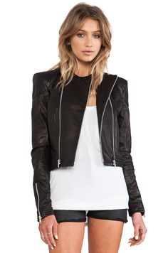 SKINGRAFT Cropped Motocross Jacket in Black