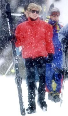 March, 1993: Princess Diana on a ski Holiday in Lech, Austria.
