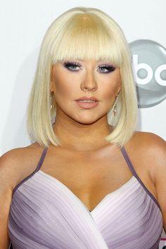 Christina Aguilera's purple smoky eye