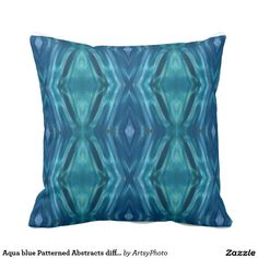Aqua blue Patterned Abstracts different Front Back