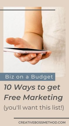 Now ready to pay for ads? Here are 10 ways to get free marketing Free Market, Pinterest For Business, Influencer Marketing, Content Marketing, Budgeting, Author, How To Get, Messages, Boss