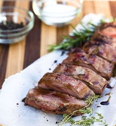 BBQ Springbok Loin and Roasted Sweet Potato recipe Braai Recipes, Venison Recipes, Roast Recipes, Healthy Family Meals, Healthy Snacks, Dude Food, Delicious Desserts, Yummy Food, South African Recipes