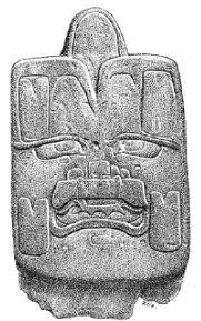 Los olmecas, relacionaban el jade con el maiz y la fertilidad agricola, por eso realizaban hachas de este material, finamente labradas que usaban para preparar los terrenos para el cultivo.  El diosolmeca del maiz, tan decisivo en sus vidas, se representaba en jade con una hendidura en la cabeza, de la que surgia una mazorca, y se colocaba en las ofrendas a modo de eje central entre cuatro hachas de jade, una por cada punto cardinal, que simbolizaba la cosmografia de su pensamiento.