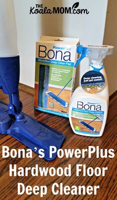 Bona's PowerPlus Hardwood Floor Deep Cleaner does an awesome job of tackling the tough grime on my floor, from spit-up to spilled juice and more!