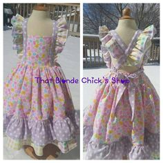 Easter Dress, Twirl Dress Check out this item in my Etsy shop https://www.etsy.com/listing/224348485/easter-dress-spring-flutter-ruffle-dress