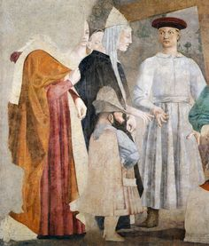 PIERO DELLA FRANCESCA - (1415 - 1492) - Discovery and Proof of the True Cross, c. 1460 (detail). Fresco, (356 x 747 cm), San Francesco, Arezzo,Italy.