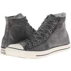 Converse Chuck Taylor All Star White Wash Hi Classic Shoes, Gray ($53) ❤ liked on Polyvore featuring shoes, sneakers, grey, converse sneakers, grey sneakers, grey shoes, white high top shoes and white shoes