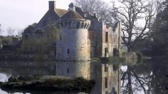Scotney Castle ruins seen in the early morning from across the Moat -  one of the nicest places I know of.