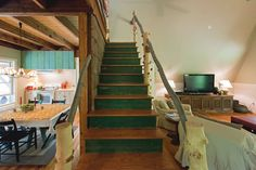 Stairs leading up to the loft bedroom