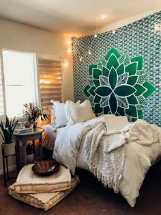 Sweet Dreams ☽ ✩ Lady Scorpio TROPIC VERDE Mandala Tapestry✨ Design by @KaitlynJohnsonDesign ✩ Save 25% off all orders with code PINTERESTXO at checkout | Bohemian Bedroom by Lady Scorpio | Shop Now LadyScorpio101.com |