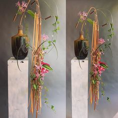 """Gregor Lersch op Instagram: """"Now the work from the sideangle . Several techniques and the Water in the# Vase make the statically stabil Situation possible. Done in…"""" Ikebana Flower Arrangement, Flower Arrangements, Gregor Lersch, Modern Floral Arrangements, Flora Design, Mechanical Design, Design Projects, Creative, Vase"""