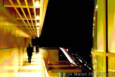 Getty Museum Architectural Cantilever Walkway On Cliff - Artistic Photography by Patrick Malon