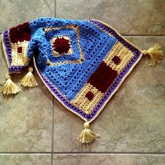 Quickie Magic Carpet (Aladdin inspired) - Always a joy to whip up! Free guide at CypressTextiles.net #custom #crochet #etsy