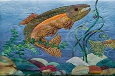 Dreaming of fish - What do fish represent in dreams - Fish Quilt Pattern, Applique Quilt Patterns, Applique Ideas, Hand Applique, Cat Pattern, Wool Applique, Wildlife Quilts, Animal Quilts, Landscape Quilts