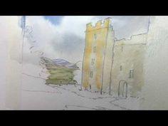 (16) Castle Bolton Watercolour Project - YouTube
