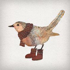 Robin Framed Art Print by David Fleck   Society6, Boots, Scarf, Bird