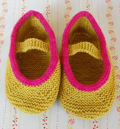 Whit's Knits: Mary Jane Slippers - The Purl Bee - Knitting Crochet Sewing Embroidery Crafts Patterns and Ideas!
