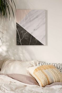 Slide View: 1: Emanuela Carratoni For DENY Marble Collage Canvas Wall Art