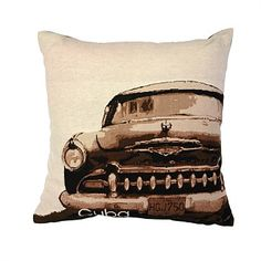 Kas Home Decor & Essential Items - Briscoes - KAS Cuba Cushion Cuba, Throw Rugs, Throw Pillows, Couch Covers, Soft Furnishings, Cushions, Black And White, Classic, Dan