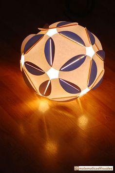 Construcción poliedros| Lámpara icosaedro con gomas  | matematicasVisuales