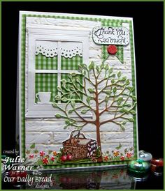 Thank You Window IC342 F4A122 WT380 by justwritedesigns - Cards and Paper Crafts at Splitcoaststampers (I like the off center window placement)