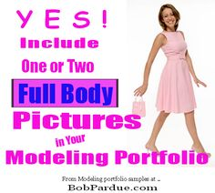What about modeling portfolio pictures? Do I need full body photos in my port? Yes, include one or two full body pictures in your #modeling portfolio for effect. These can be of you wearing a swimsuit or tight fitting clothing.