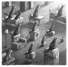 Meowsky drive-in. Shaun Tan