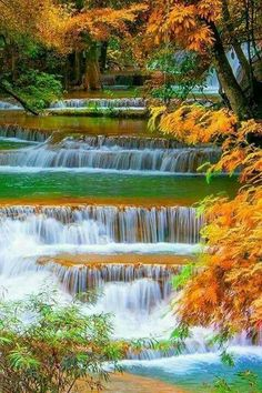 Every man can transform the world from one of monotony and drabness to one of excitement and adventure. Beautiful Nature Wallpaper, Beautiful Landscapes, Beautiful World, Beautiful Places, Landscape Photography, Nature Photography, Autumn Scenery, Beautiful Waterfalls, Nature Scenes