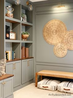 How to install simple panel wall trim and add tons of character Thrifty Decor Chick, Wall Trim, Wall Molding, Built In Bookcase, Decorative Trim, Wainscoting, Built Ins, Home Living Room, House Colors