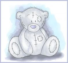 I have got to learn how to draw this lil' guy.  I really want one!  They're the cutest little teddy bears!