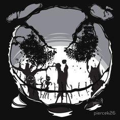 Best Tim Burton Inspired T Shirts on RedBubble | 25. The Pumpkin Kiss – by piercek26