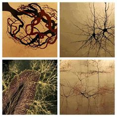 Neuroscience Gold Leaf Art- Greg Dunn