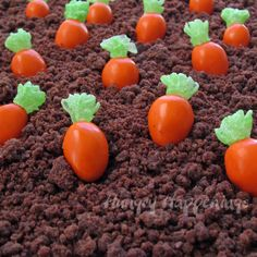 Hungry Happenings: Almond M&M Candy Carrots topped with Mike & Ike Greens