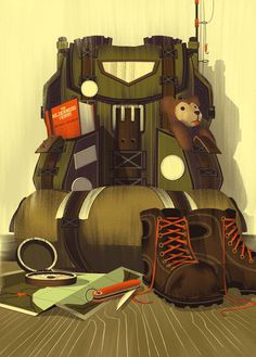 LabelExpo 2014 Backpack- Illustrations from Brian Miller