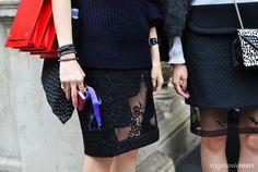 SHEEN & SHEER  Stephanie Toms: http://cocochic.creatorsofdesire.com  #fashion #lfw #streetstyle #details