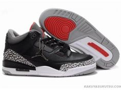 Wholesale Air Jordan 3 Retro Black White Cement Grey, which is one of the  full series of Nike Air Jordan 3 Shoes with cheap price and high qualiy.
