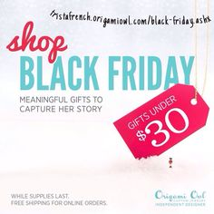 #Blackfriday specials #deals under 30$ #Origamiowl #Christmas #jewelry less than 24 hours to go! Get your orders in