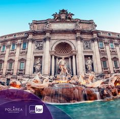 #SabíasQue La fuente de Trevi es una escultura de 26 metros de alto que está ubicada en Roma y es quizá la más difícil de encontrar por estar escondida entre los edificios de esta bella ciudad. ¿Tú la conoces?  #Polárea #NuevoPolanco #CDMX #Escultura #Monumento #FuenteDeTrevi #Roma
