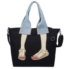 Canvas Funny Embroidery Tote Bag - Cheapest and Latest women & men fashion site including categories such as dresses, shoes, bags and - Funny Embroidery, Embroidery Bags, Tote Bags Online, Sacs Design, 31 Bags, Patchwork Bags, Patchwork Quilting, Denim Patchwork, Denim Quilts