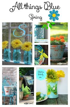 All things Blue Spring decor and craft ideas! I love blue.Blue is the color of the sky and sea. It is often associated with depth and stability. It symbolizes trust, loyalty, wisdom, confidence, intelligence, faith, truth, and heaven. Blue is considered beneficial to the mind and body.