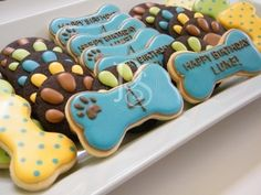 Puppy birthday party cookies