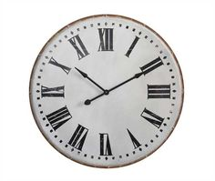 "$145 40"" Round Metal Wall Clock"