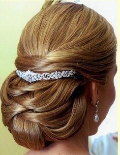 Peinados Work Hairstyles, Pretty Hairstyles, Wedding Hairstyles, Hairdo Wedding, Elegant Wedding Hair, Hair Upstyles, Love Hair, Textured Hair, Hair Dos