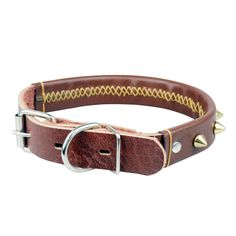 Leather Padded Dog Collar The CAILLU-Luxury Real Leather Padded Dog Collar,Adjustable Sizes with. ** For more information, visit image link. (This is an affiliate link) #DogCollars