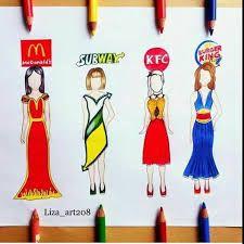 Bildergebnis für food dress drawing