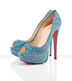 Glam Bling Heels! #sparkly #shoes #blue
