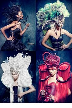 "Sanjay Ramcharan–hairstylist:  ""My collection is inspired by the Biblical story of the four horsemen of the Apocalypse. To create these Avant Garde hairstyles I have used several Balmain Hair products.   Balmain Hair is the first choice of many session stylists all over the world, because of its versatility. That made this an easy choice for me!""  Other Credits:   Make-up Artist: Hanane Naji, Photographer: Richard Monsieurs, Stylist: Sanjay Ramcharan, Clothing: Sheguang Hu, Hair: Balmain…"