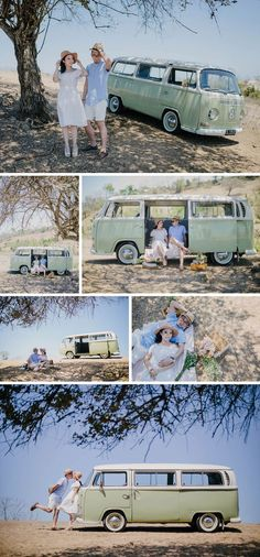 Vintage picnic style engagement photo shoot in Bali